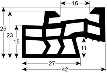 Angelo Po Hordenwagendichtung für FX201E3, FX201E3P Länge 515mm