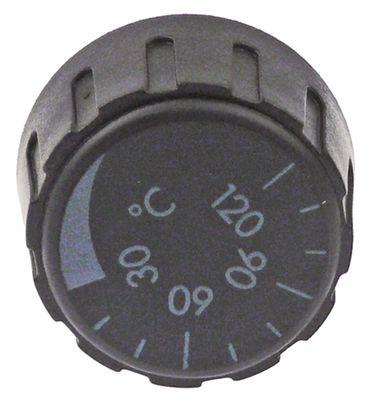 Knebel für Thermostat ø 36mm Symbol 0-120°C Achsabflachung oben