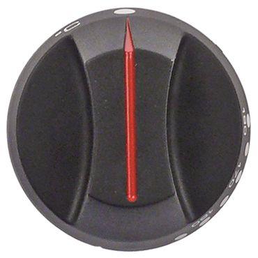 Falcon Knebel für Thermostat ø 66mm Symbol 140-190°C schwarz