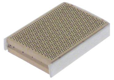 Keramikplatte mit Dichtstreifen 3-seitig Länge 69mm Breite 49mm