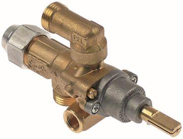 PEL PEL21S Gashahn mit Zündflamme Thermoelementanschluss M8x1
