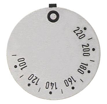 Electrolux Knebelsymbol für Thermostat Symbol 100-220°C silber