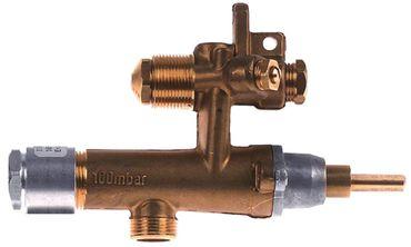 EGA Gashahn Serie 26400 Thermoelementanschluss M8 Gaseingang ø 8mm
