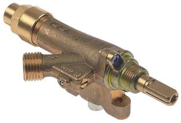 ECA Gashahn mit Rohrflansch Thermoelementanschluss M8x1 19/13mm
