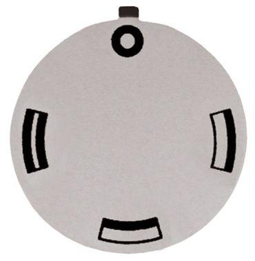 Knebelsymbol für Backofen Symbol OH/UH/OH+UH silber Aussen 45mm