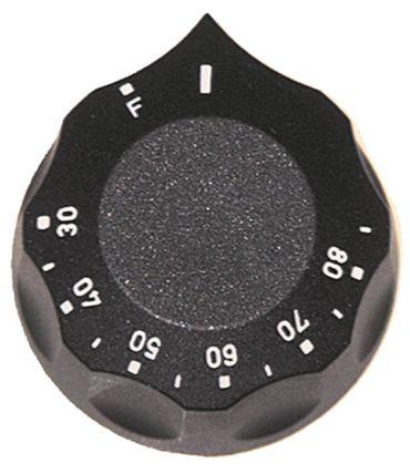 Knebel für Thermostat ø 60mm Symbol 30-85°C mit Abflachung oben