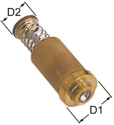 JUNKERS Magneteinsatz Länge 35mm ø 15,4mm D2 ø 11mm 2,1bar