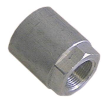 Heidebrenner Mutter M12x0,75 Aluminium Länge 24mm Innen 18mm