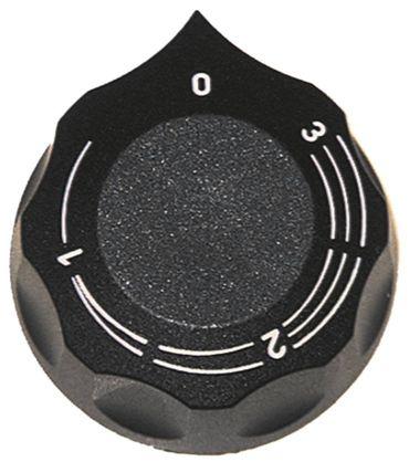 Angelo Po Knebel für Energieregler ø 60mm Symbol 1-3 schwarz