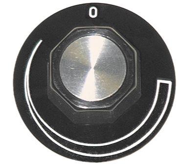 Ascobloc Knebel ø 50mm Symbol Schweif für Achse ø 6x4,6mm