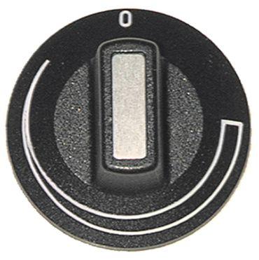 Heidebrenner Knebel ø 50mm Symbol Schweif für Achse ø 6x4,6mm