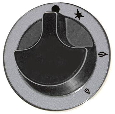 Knebel für Gashahn ø 62mm Symbol mit Zündflamme