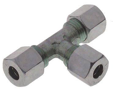 Gas-T-Stück für Gas für Stahlrohre T-Stück verchromt