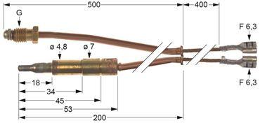 Lotus Thermoelement für FQ-61GF, FQ-62GF mit Unterbrecher M9x1