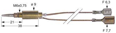 Bertos Thermoelement für G7F4E, G7F6E, G6F2B+A2 Länge 750mm M6x0,75