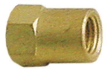 Dexion Mutter Gewinde M6x0,75 Messing SW 8 für Glühplatte