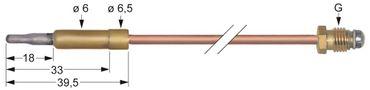 Electrolux Thermoelement Länge 320mm Steckhülse ø 6,0mm