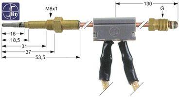 Electrolux Thermoelement mit Unterbrecher Länge 1000mm 294050