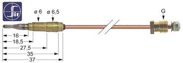 MKN Thermoelement für 2061101-01, 2061101-02 Länge 850mm M8x1