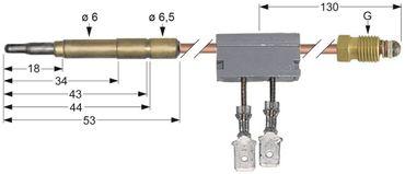 Thermoelement mit Unterbrecher Länge 600mm mit Unterbrecher M9x1