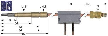SIT Thermoelement für Angelo Po FC101, FC61, FCV101, Fagor, Olis
