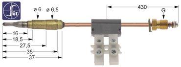 Falcon Thermoelement mit Unterbrecher Länge 850mm G3830, G3865
