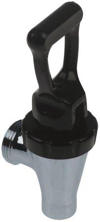 Auslaufhahn Gewinde M26x1,75 für Brühmaschine schwarz