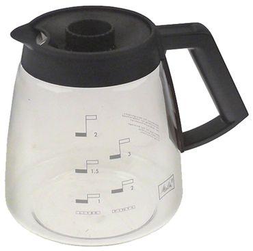 Melitta Kaffeekanne für Brühmaschine Glas 2,2l 2,2l