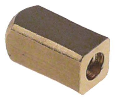 Bolzen für Espressomaschine Länge 11,8mm M3 Messing Höhe 6mm