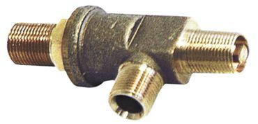 Dampf-/Wasserhahn für Espressomaschine Achsabflachung oben/unten