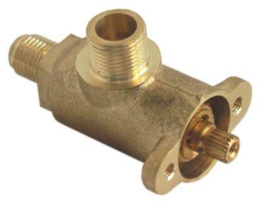 """Dampf-/Wasserhahn für Espressomaschine Ausgang 3/8"""" Eingang 1/4"""""""