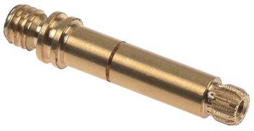 Achse ø 10,9mm für Espressomaschine Länge 61,8mm Messing