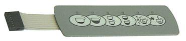 Bezzera Folientastatur 6 Tasten für Espressomaschine ELLISSE