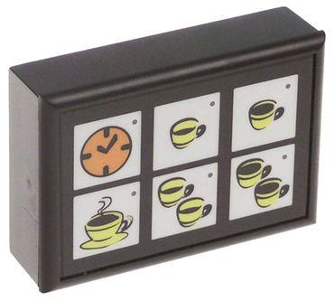 Grimac Tastatureinheit für Espressomaschine 6 Tasten Länge 88mm