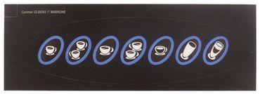 Carimali Frontfolie für Kicco-Espresso Länge 178mm Breite 51mm