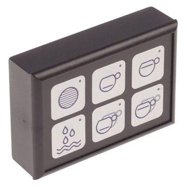 Tastatureinheit für Espressomaschine 6 Tasten Länge 88mm