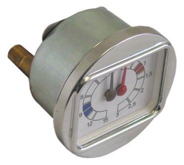 "Brasilia Manometer für Espressomaschine Gradisca 0-3/0-15bar 1/8"""