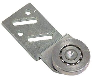 Laufrolle mit Halterung, Lauffläche Stahl Lager Kugellager 5,6mm