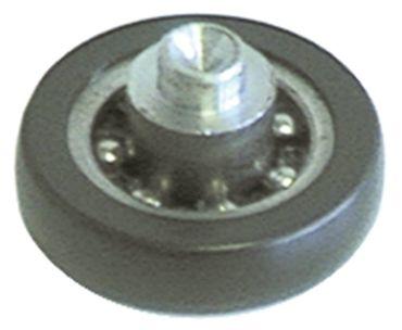 Laufrolle Rolle 25mm Kunststoff Breite 6mm Kugellager 25mm 6mm 6mm