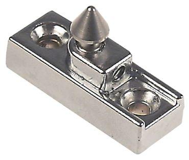 Kloben für Verschluss mit Zapfen ø 10mm Höhe 10mm mit Zapfen