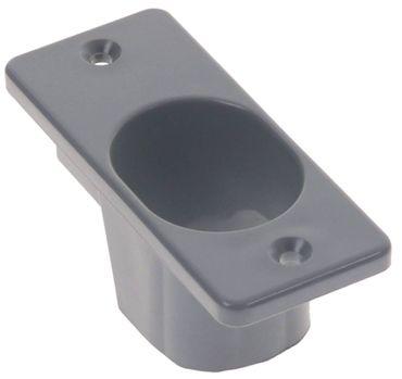 Abdeckkappe Kunststoff Länge 94mm grau Breite 40mm Tiefe 36mm
