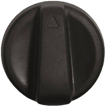 Knebel ø 65,5mm Symbol Pfeil für Achse ø 8x6,5mm schwarz