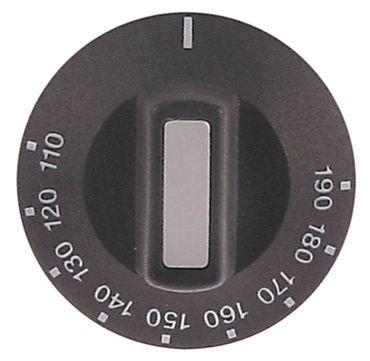 Knebel für Thermostat ø 50mm Symbol 110-190°C schwarz