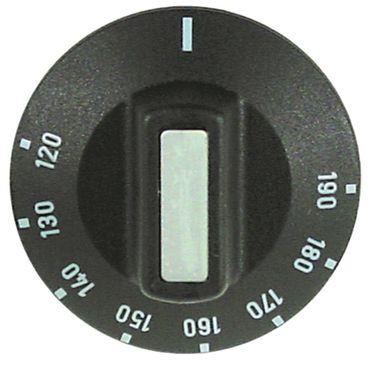 Knebel für Thermostat ø 50mm Symbol 120-190°C schwarz