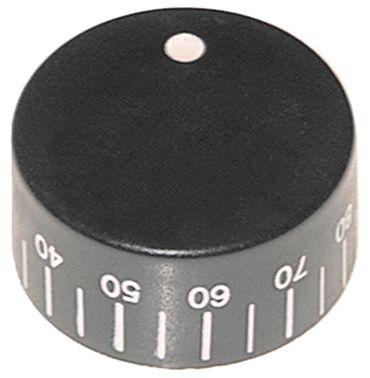 Lotus Knebel für CP-62ET, CP-61EM für Thermostat ø 40mm schwarz