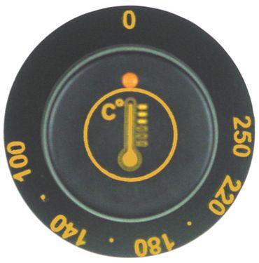 Bartscher Knebel für Thermostat ø 47mm Symbol 100-250°C schwarz