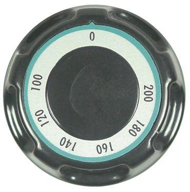 MBM-Italien Knebel für Thermostat ø 70mm Symbol 10x9°C schwarz