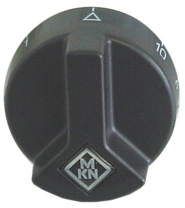 MKN Knebel für Energieregler ø 53mm Symbol 1-10 schwarz