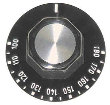 Knebel für Thermostat ø 50mm Symbol 100-180°C schwarz