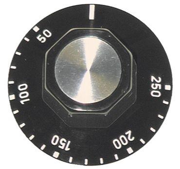 Knebel für Thermostat ø 50mm Symbol 50-250°C schwarz